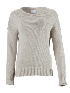 Beige Over-Sized Knitted Sweater