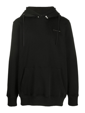 Black Mackintosh metal logo hoodie jumper