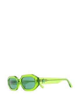 X Attico Irene rectangular sunglasses emerald green