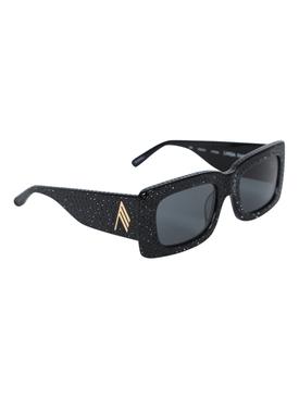 X The Attico Stella Rectangular Embellished Sunglasses
