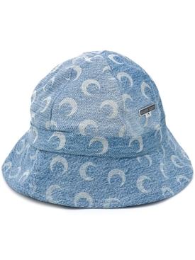 Denim Crescent Moon Bucket Hat