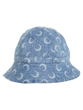 Marine Serre - Blue Denim Moon Logo Bob Hat - Women