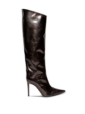 Alex Metallic Knee-High Boots Anthracite