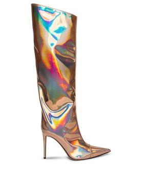 Alex Metallic Knee-High Boots Rose Gold