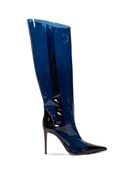 ALEX METALLIC KNEE-HIGH BOOTS CINA BLUE