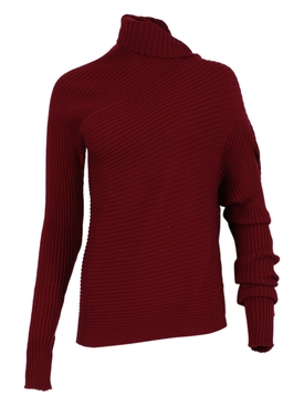 Burgundy Draped Jumper