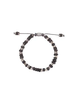 Oxi Disc Detail Bracelet Black & Silver