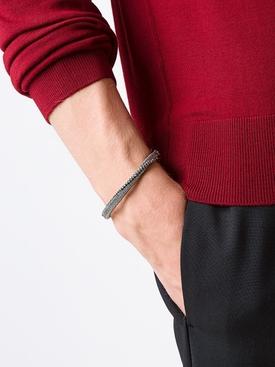 Silver Cavalry Cuff Chain Bracelet