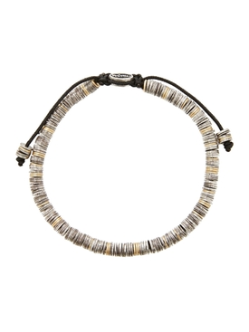18K Gold and Silver Mini Disc Bracelet