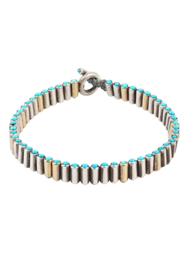 Mixed Metal Pellet Bracelet