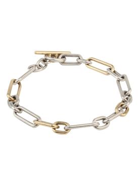 18K gold and silver Ovalado Bracelet