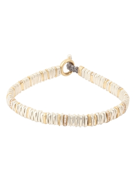 18k gold and silver diamond small Zig bracelet