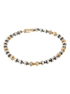 18K matte gold and silver diamond Medium Omni Bracelet