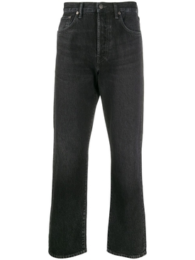 Cotton Denim Jeans, Black