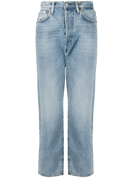 Light Blue Cotton Denim Jeans