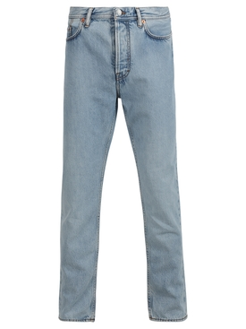 Slim tapered jeans light blue