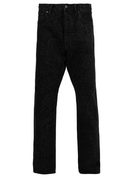 Paisley Print Black Jeans