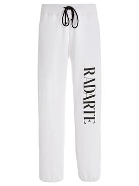White Sweatpant With Oversize Radarte Logo White