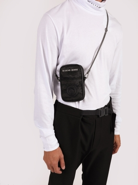 Black one pocket phone case bag
