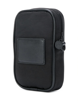 Black one pocket logo phone case bag