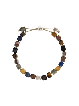 Multicolored Cube Beaded Bracelet