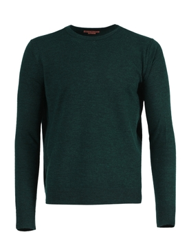 Wool crewneck sweater FOREST GREEN