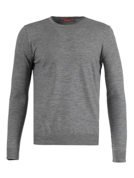 Wool crewneck sweater LIGHT GREY MÉLANGE