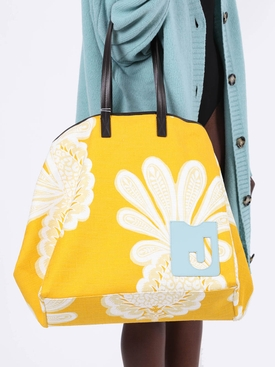 Big Mama Multicolored Floral Print Tote Bag