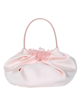 Mini silk embellished hand bag ROSE PINK