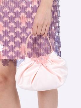 Mini silk embellished hand bag ROSE PINK