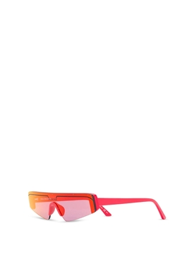 Ski rectangle sunglasses red