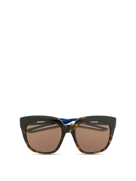 Oversized cat eye sunglasses brown