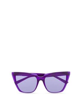 Square sunglasses violet purple