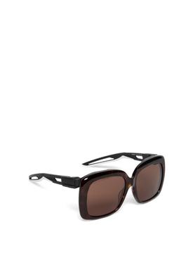 Square tortoise sunglasses havana brown