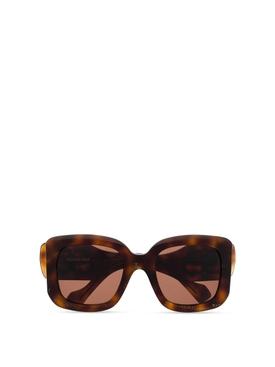 Oversized square sunglasses brown