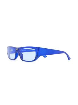 Blue rectangular logo sunglasses