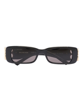 Shiny Black BB Detail Sunglasses