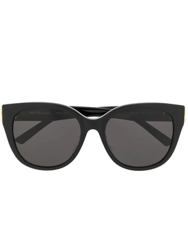Black cat-eye logo sunglasses