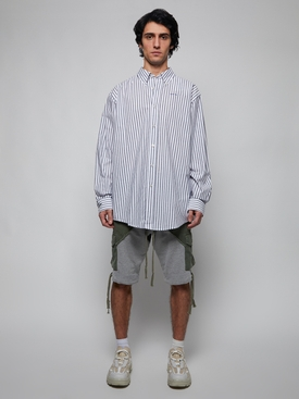 Classic Striped Button Down Shirt MIDNIGHT BLUE