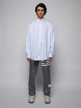Classic Striped Button Down Shirt, Light Blue