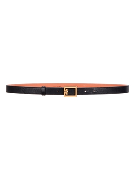 GV3 Logo Leather Belt BLACK