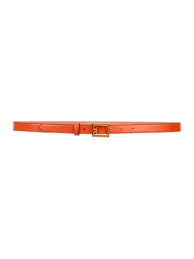 GV3 Logo Leather Belt CHESTNUT