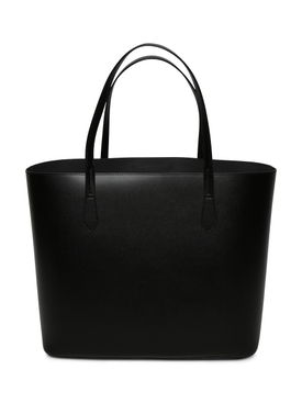 Black Logo Print Tote Bag