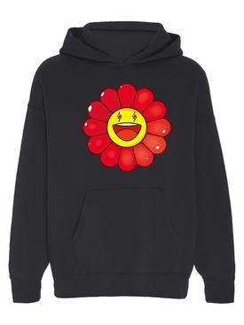 Rojo Large Flower Hoodie