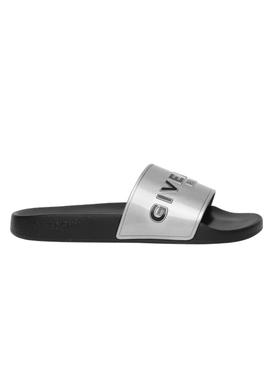 Silver Slide Sandal