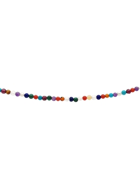 Multi-gem beaded necklace