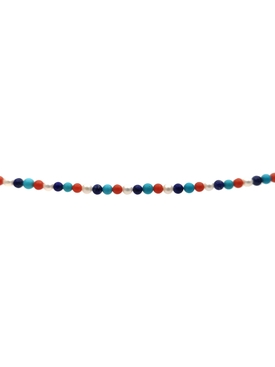 Red, white and blue multi-gem beaded necklace