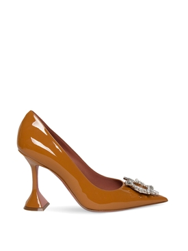 Begum Patent Leather Pump Glossy Tan
