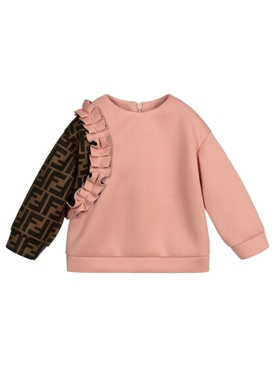 Kids Ruffle crewneck sweater