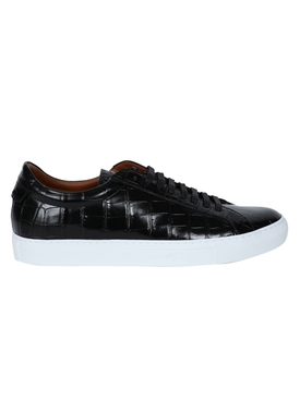 Givenchy - Black Croc Embossed Urban Street Sneaker - Men
